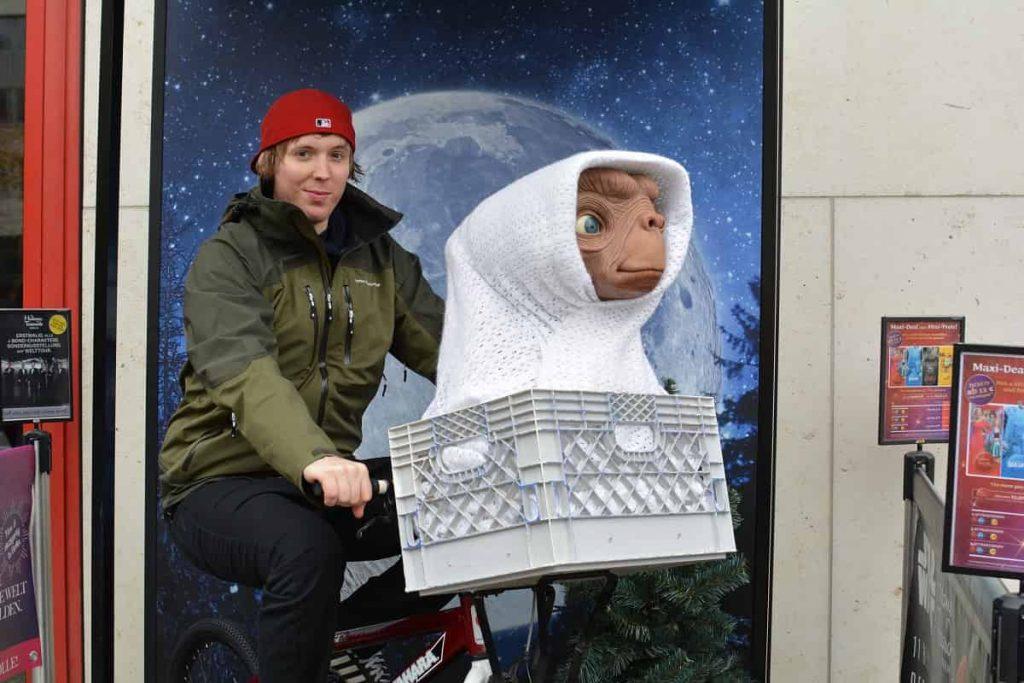 Residiot ute och cyklar