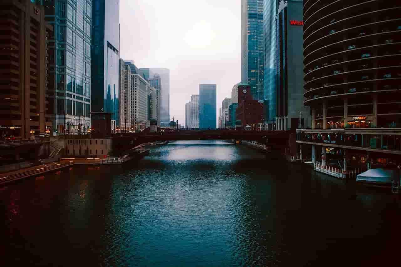 Den blå/gröna Chicagofloden