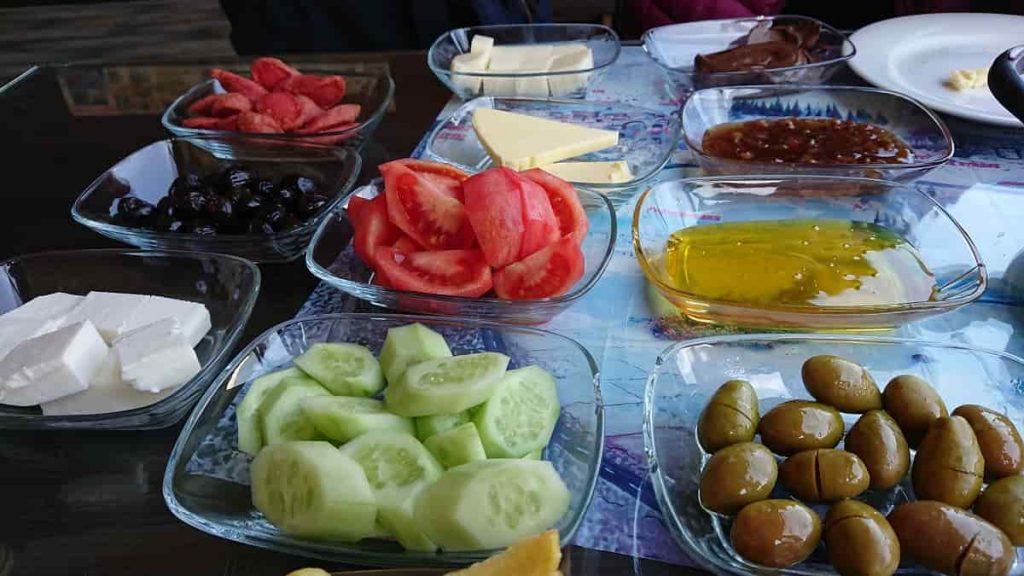 Vår frukost i Pamukkale