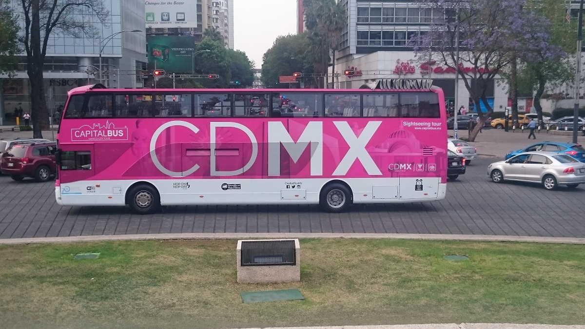 Turistbuss i Mexico city