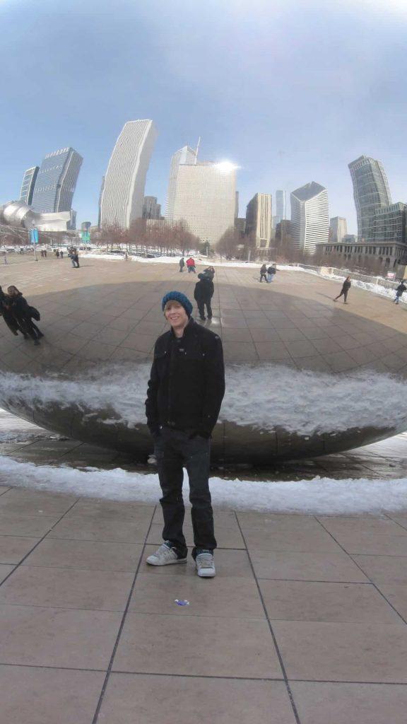Residiot framför bönan i Chicago