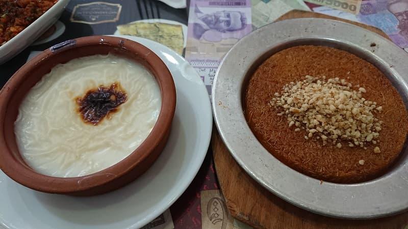Sütlaç och Künefe