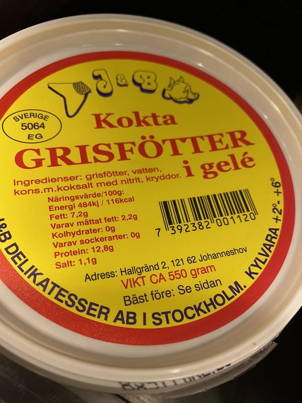 Grisfötter etikett